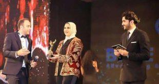 """تكريم المصممة هدى بنمليح في مهرجان """"ميدل ايست فاشن"""" بالقاهرة"""