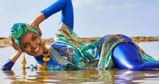 عرض أول لباس البحر للنساء المحجبات